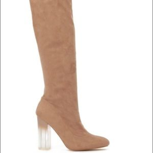 Brown Suede Thigh High Boots